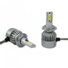 H7 64210 C6 LED COB 36W 12V 3800 Lumens Headlight / Fog Lamp Light Bulbs Pair