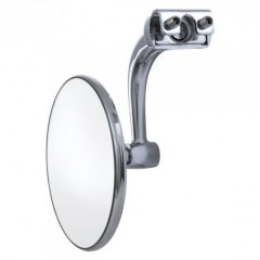 One Stainless Steel Peep Mirror Side View Mirror 4 in. Right Or Left 1 pc.