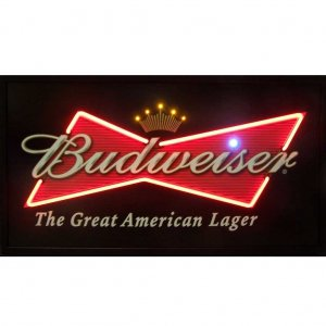 BUDWEISER BOWTIE NEON/LED PICTURE