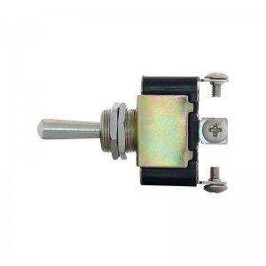 3 Pin, 10 Amp - 12 Volts D.C. On-Off Metal Toggle Switch w/ 3 Screw Terminals | Other Accessories
