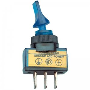 Glow Duckbil 3 Prong Switch - Blue | Wiring, Plugs, / Harness