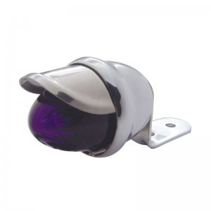 Chrome Mini Auxiliary Incandescent Light w/ Stainless Steel Visor - Purple | Honda / Pedestal