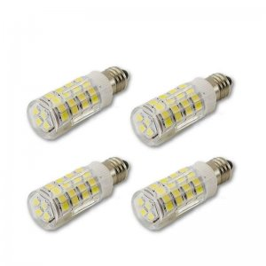 E11 LED SMD 4W Cool White 6000K Mini Candelabra Base Dimmable Light Bulb 4 Pack