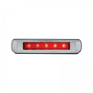 Chrome Flush Mount 5 Red LED License Plate Light - 3rd Brake Light | License Plate Accessories
